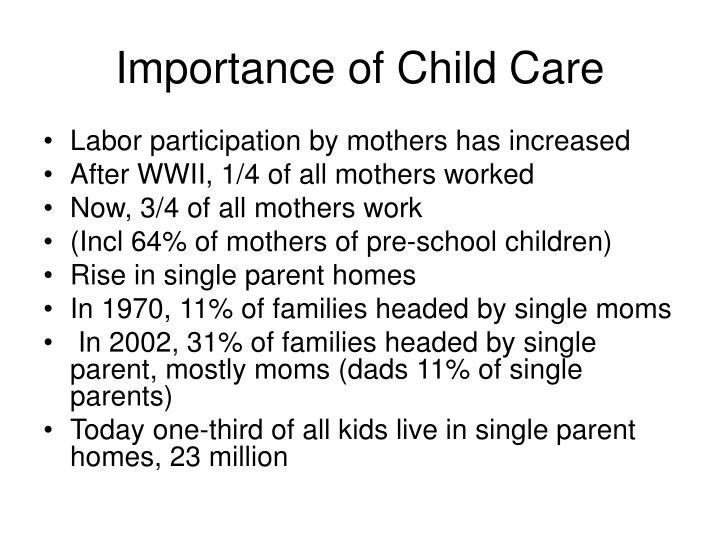 Importance of Child Care