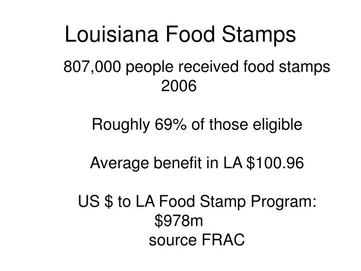Louisiana Food Stamps
