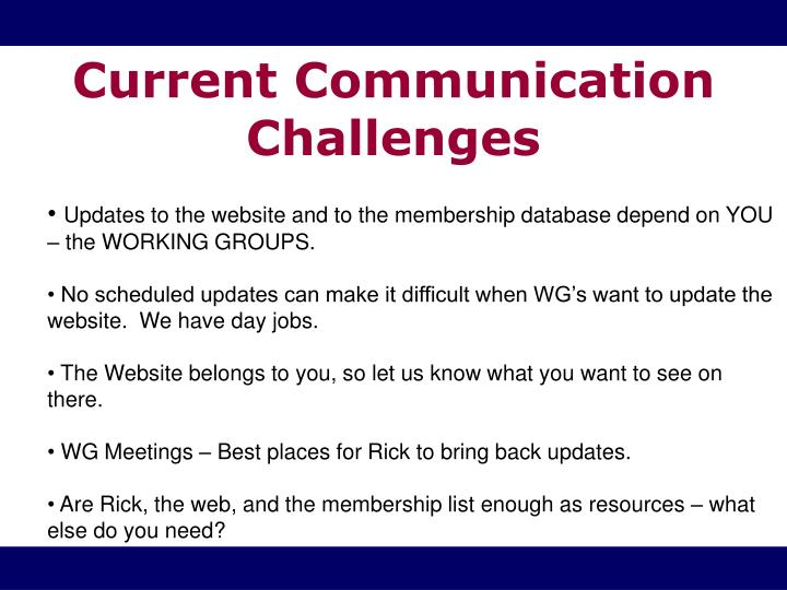 Current Communication Challenges
