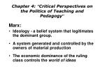 chapter 4 critical perspectives on the politics of teaching and pedagogy2