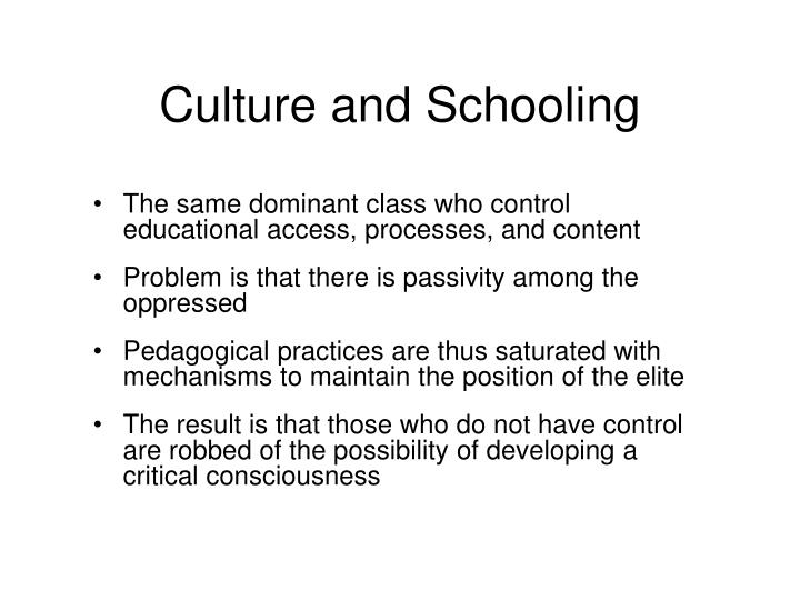 Culture and Schooling