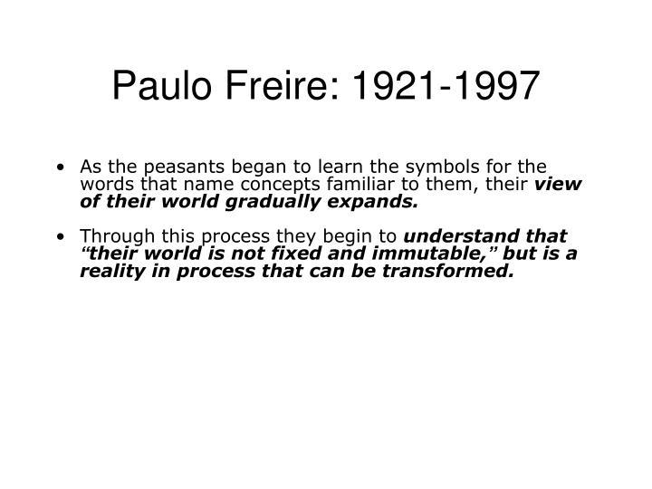 Paulo Freire: 1921-1997