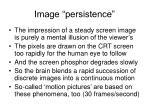 image persistence