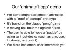 our animate1 cpp demo