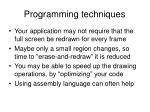 programming techniques