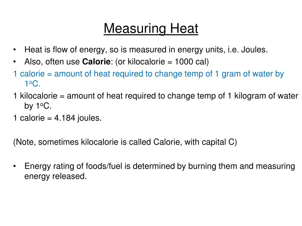 Measuring Heat