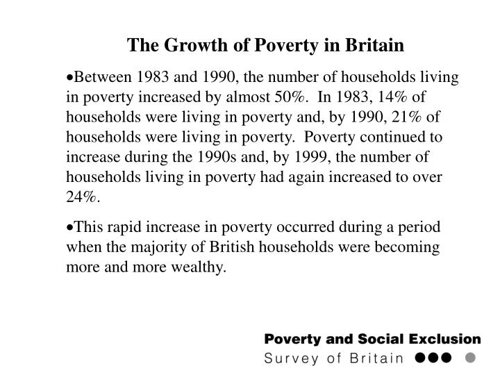 The Growth of Poverty in Britain
