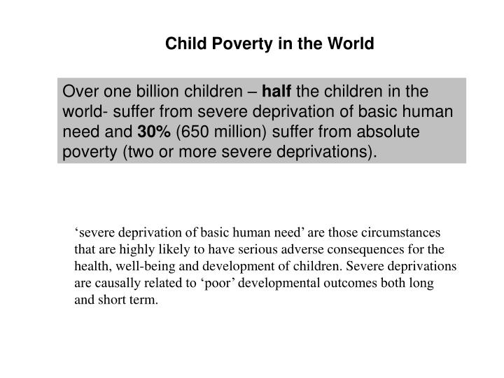 Child Poverty in the World