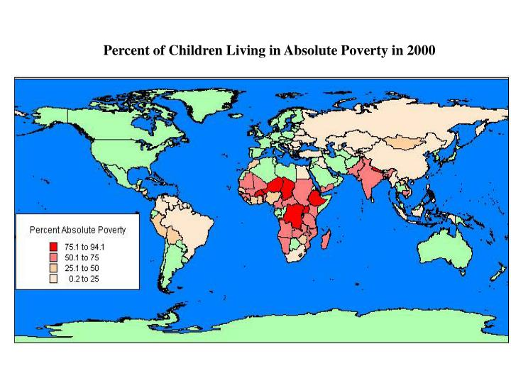 Percent of Children Living in Absolute Poverty in 2000