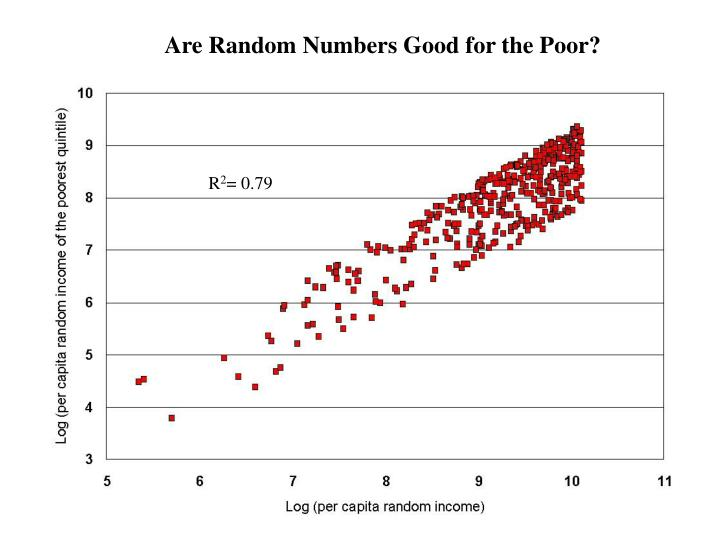 Are Random Numbers Good for the Poor?
