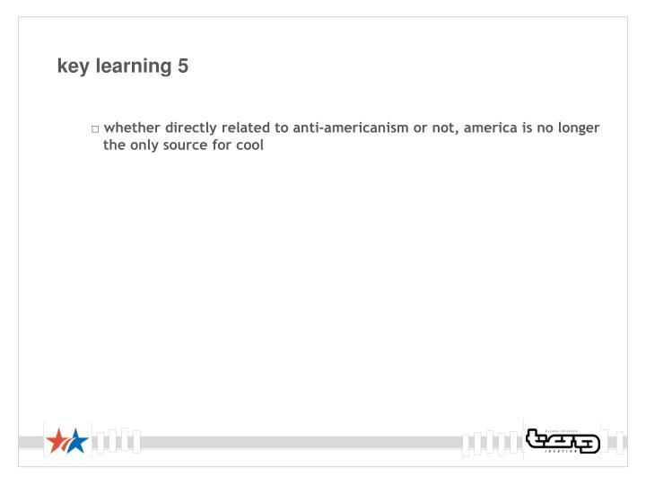 key learning 5