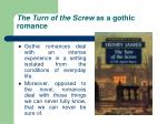 the turn of the screw as a gothic romance