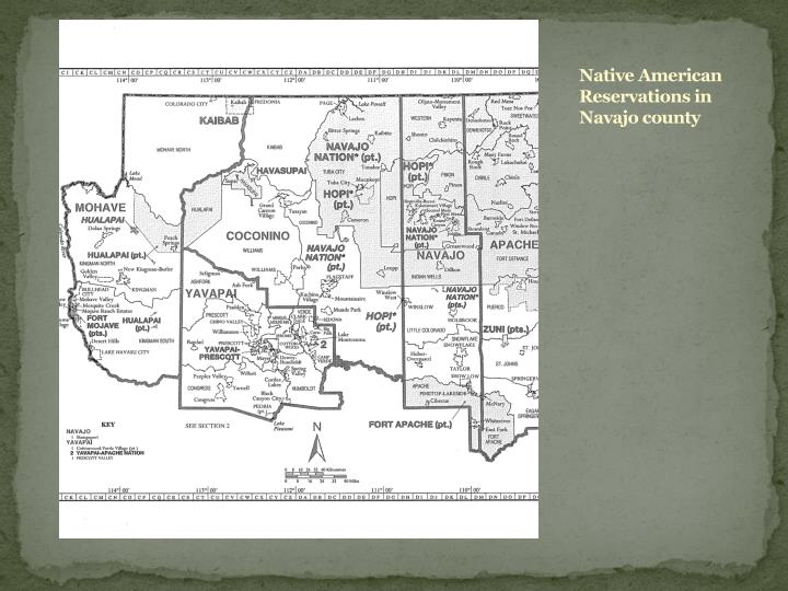 Native American Reservations in Navajo county