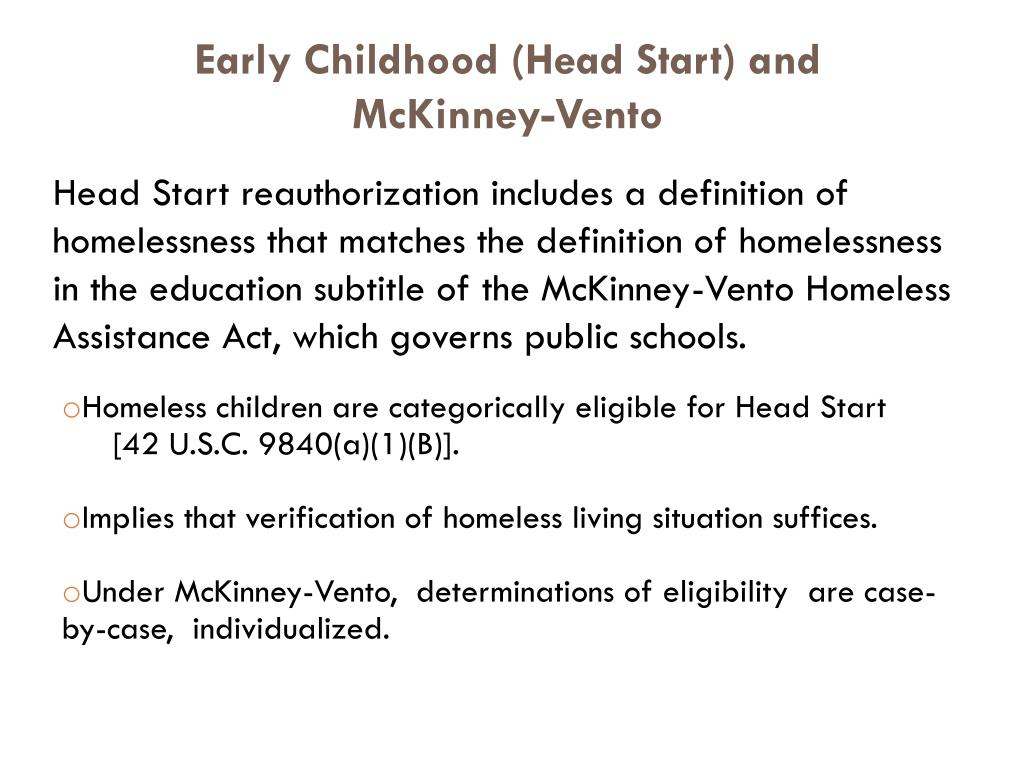 Early Childhood (Head Start) and