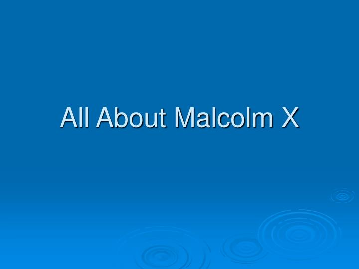 all about malcolm x