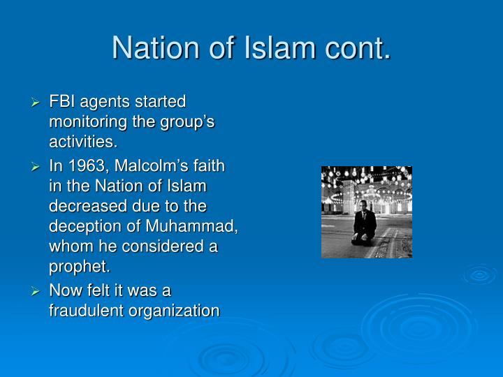 Nation of Islam cont.