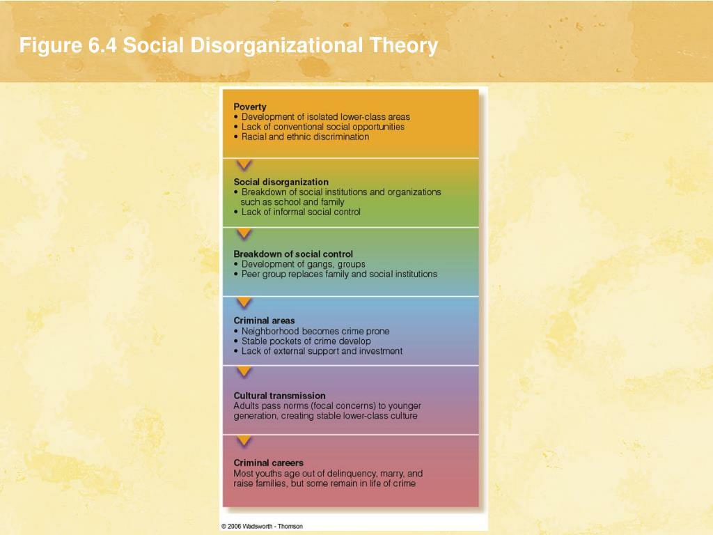 Figure 6.4 Social Disorganizational Theory