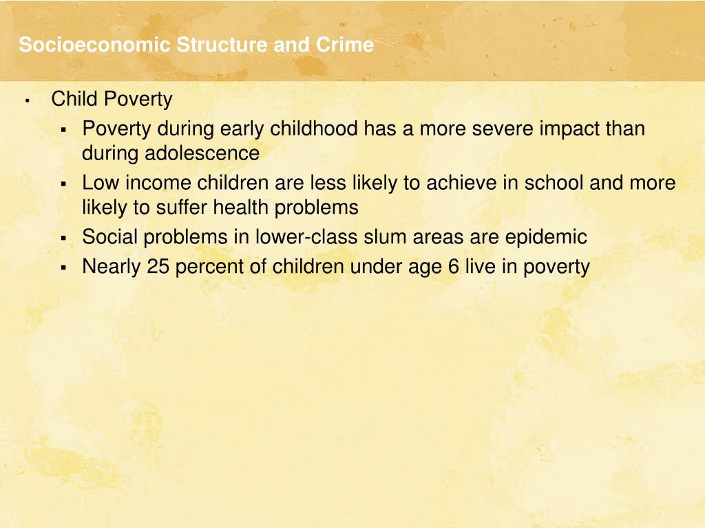 Socioeconomic Structure and Crime