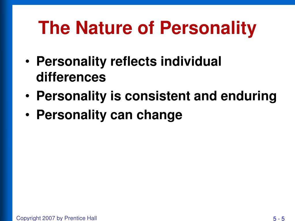 nature personality