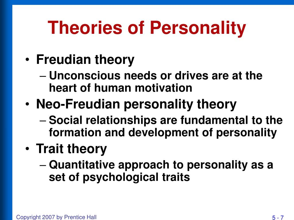 theories of personality Free research that covers personality theory on oprah winfrey any person experiences growth of different facets of personality during different points of.