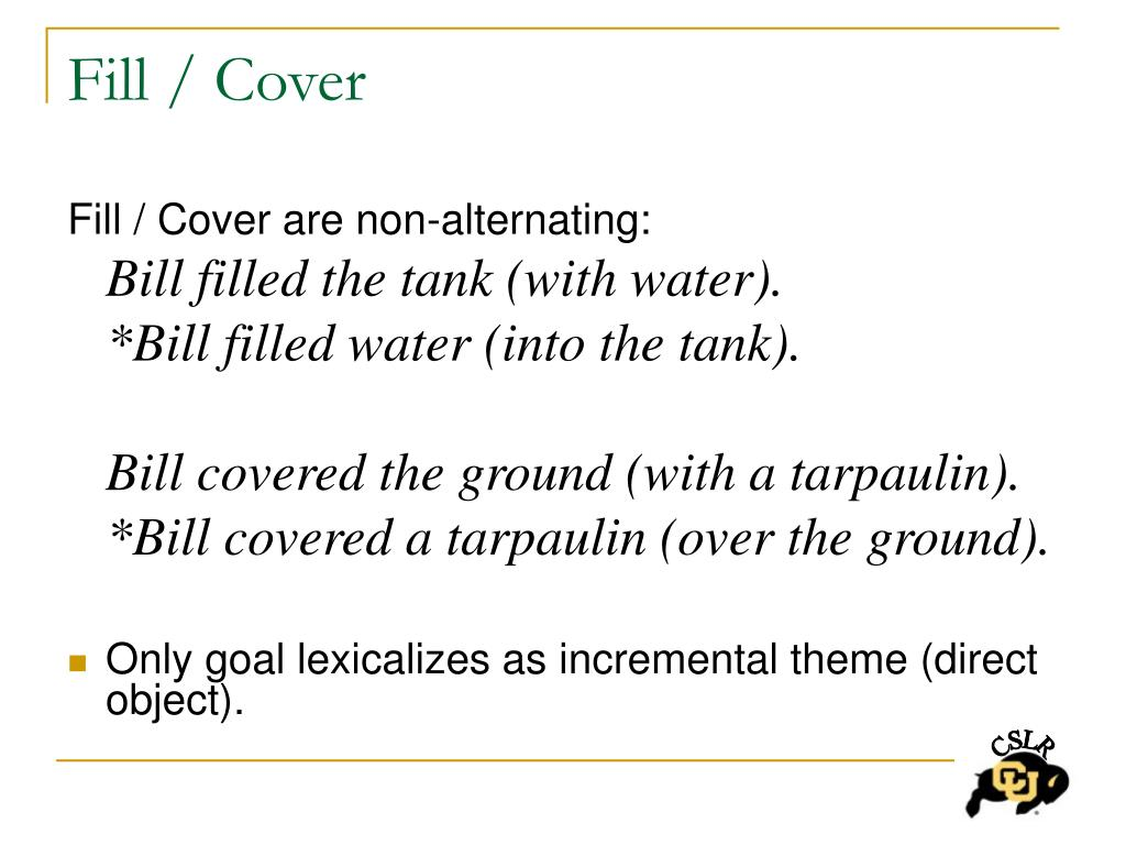Fill / Cover