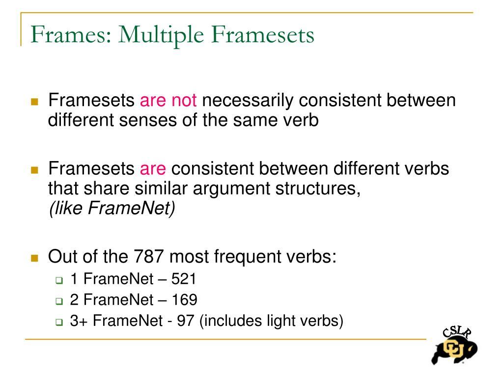 Frames: Multiple Framesets