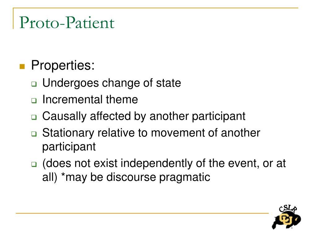 Proto-Patient