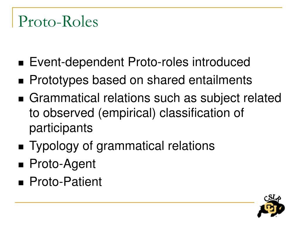 Proto-Roles