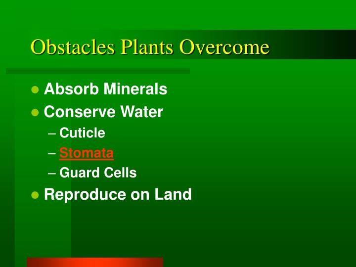 Obstacles plants overcome