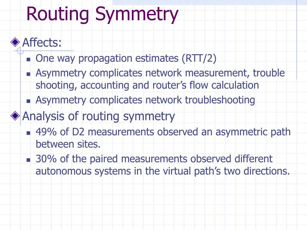 Routing Symmetry