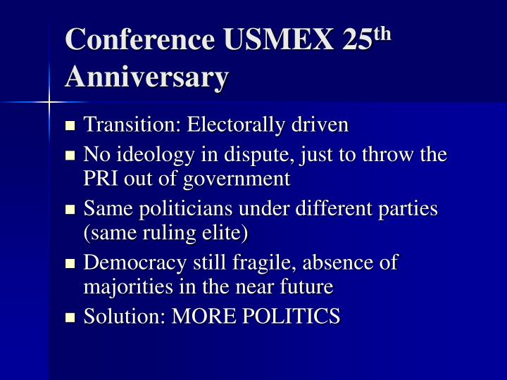 Conference usmex 25 th anniversary