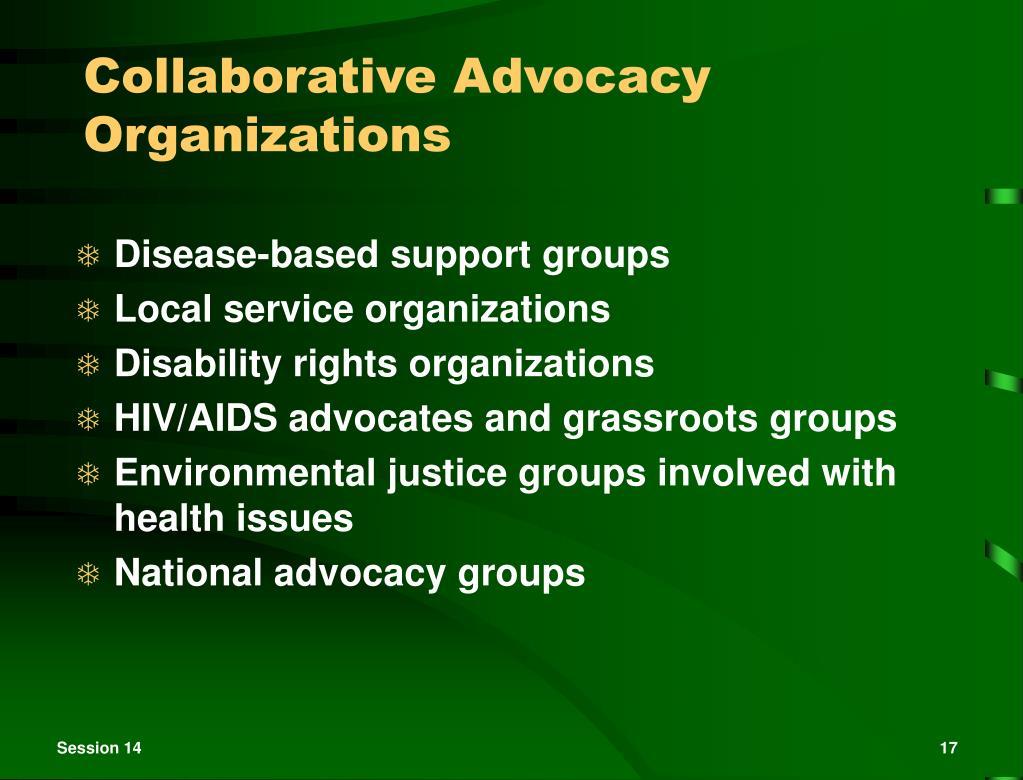 Collaborative Advocacy Organizations