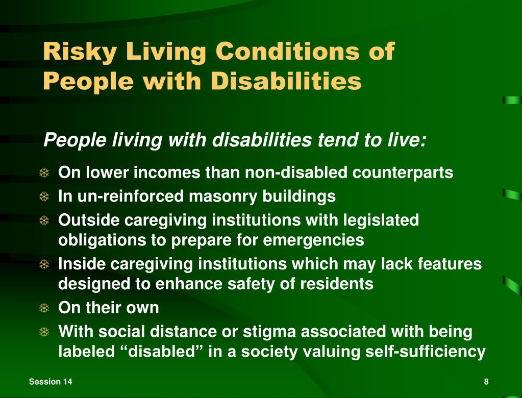 Risky Living Conditions of People with Disabilities