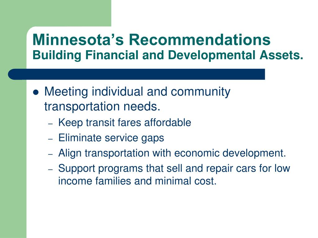 Minnesota's Recommendations