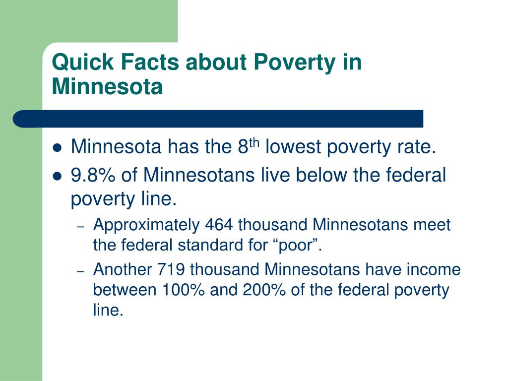 Quick Facts about Poverty in Minnesota