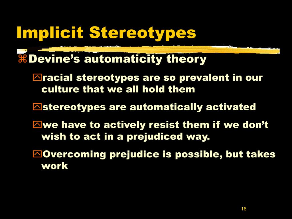 Implicit Stereotypes