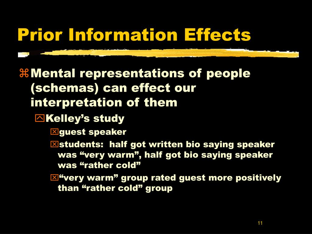Prior Information Effects