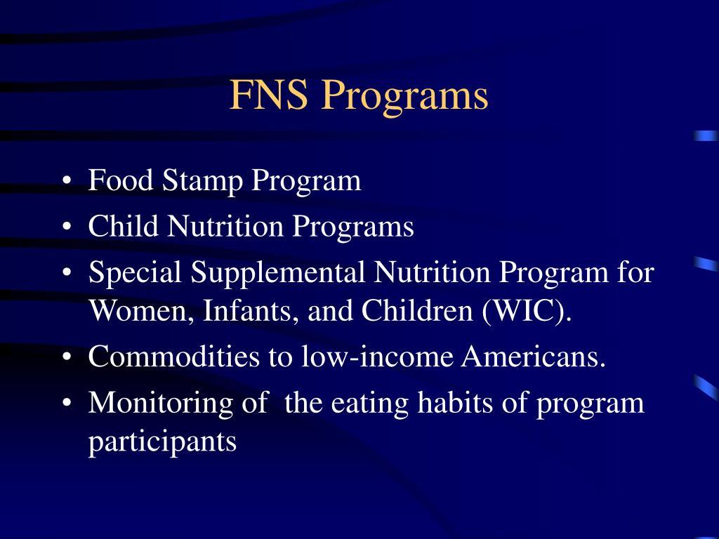 FNS Programs