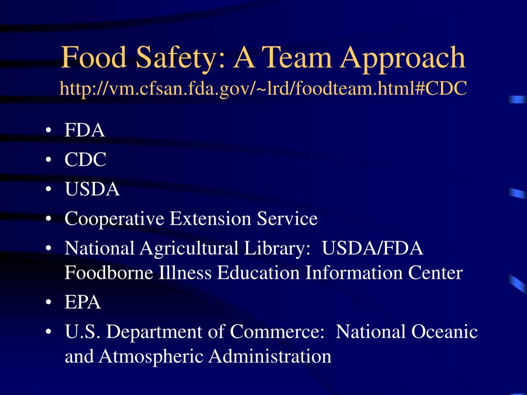 Food Safety: A Team Approach