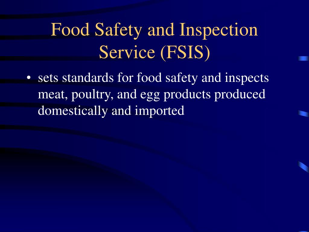 Food Safety and Inspection Service (FSIS)
