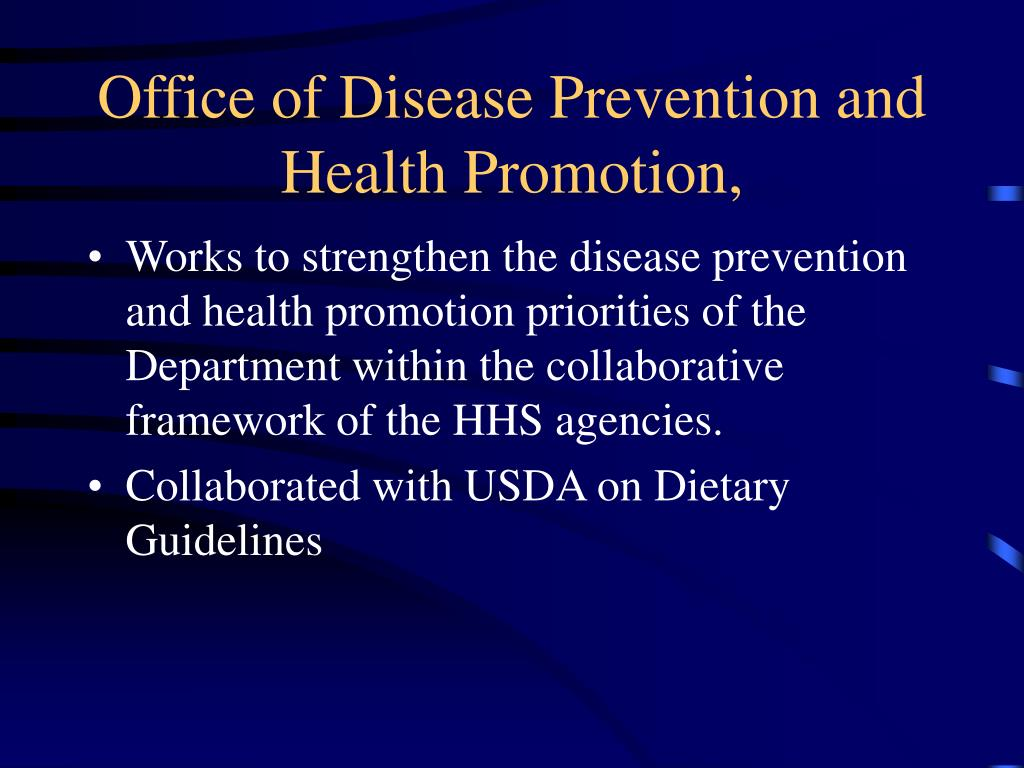 Office of Disease Prevention and Health Promotion,