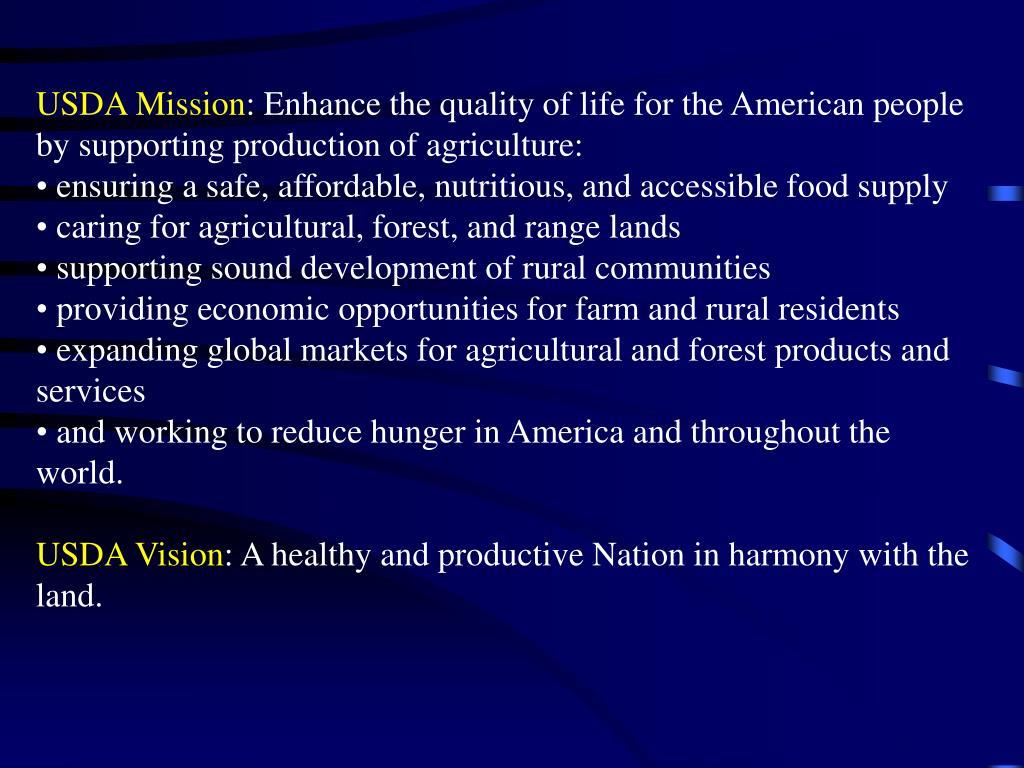 USDA Mission