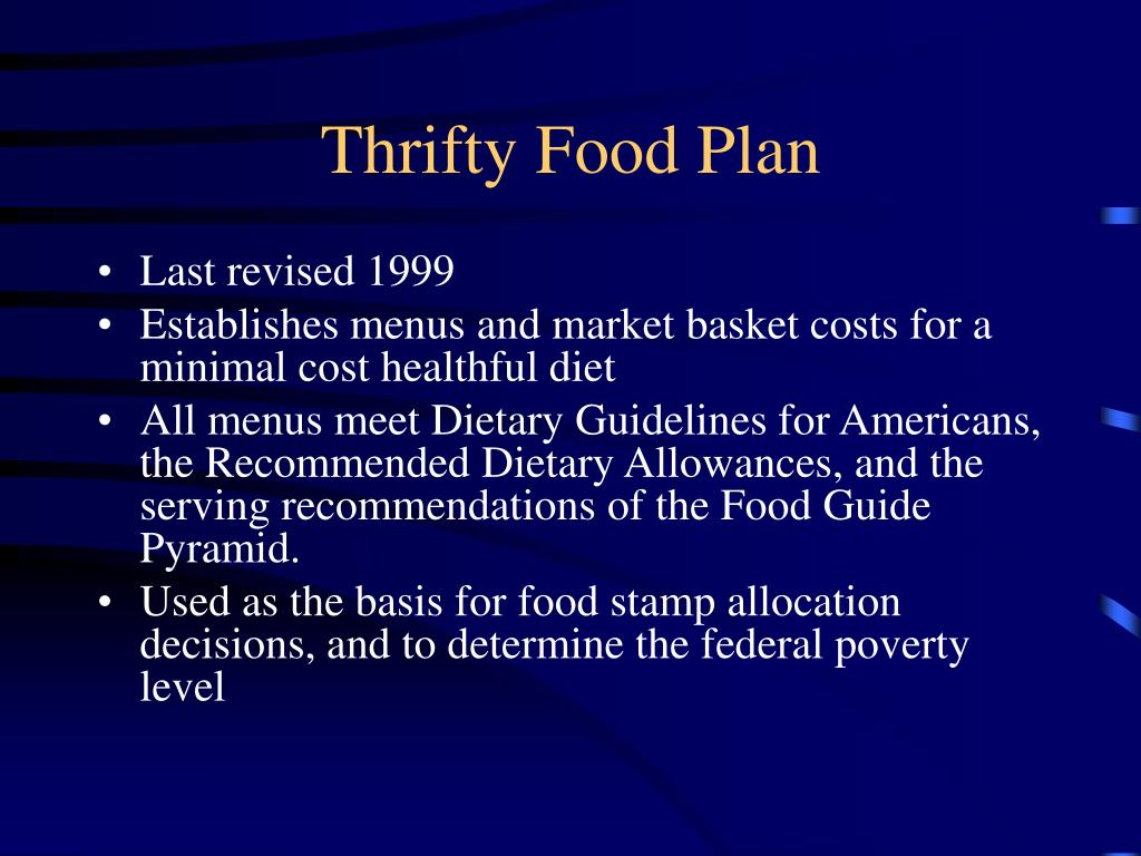 Thrifty Food Plan