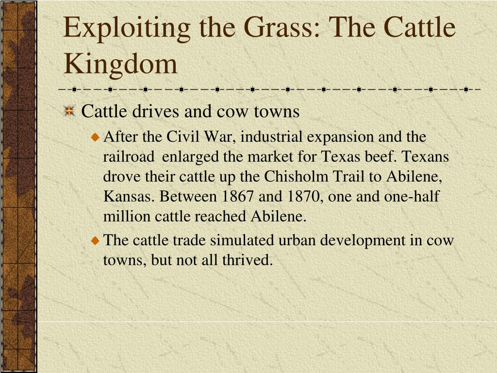 Exploiting the Grass: The Cattle Kingdom