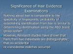 significance of hair evidence examinations5