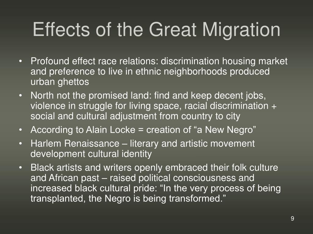Effects of the Great Migration
