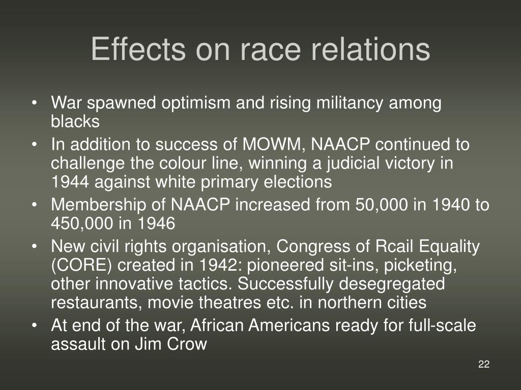 Effects on race relations