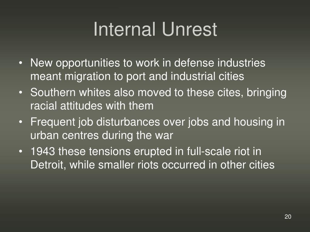 Internal Unrest