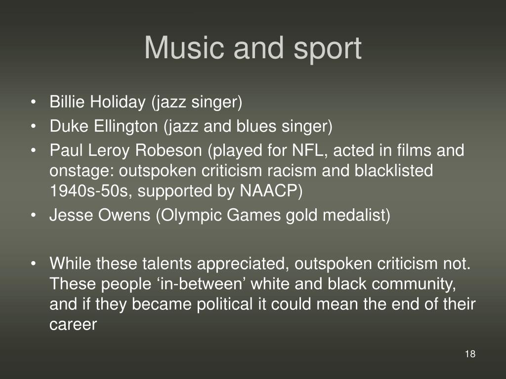 Music and sport