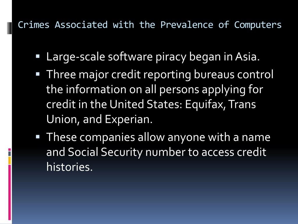 Crimes Associated with the Prevalence of Computers